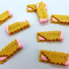 Шармик для слайма Печенька с розовым кремом