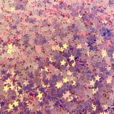 Посыпка Блёстки звёзды розовые для украшения слайма