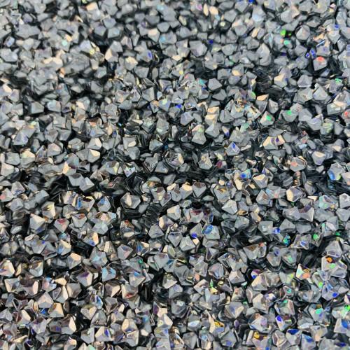 Посыпка Блестки кристалл серебро для украшения слайма