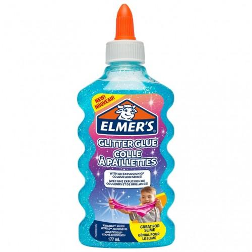 Клей для слаймов ELMERS, с голубыми блестками, 177 мл (1 слайм)