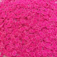 Посыпка фимо конфетти Звездочка ярко розовая