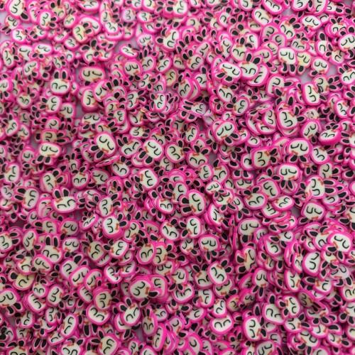 Посыпка фимо Зайчик розовый
