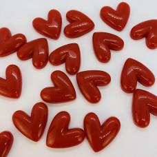 Шармик для слайма Большие сердечки красные