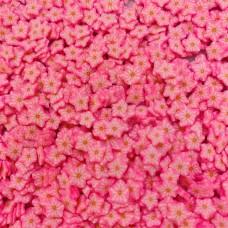 Посыпка фимо Цветочки розовые яркие