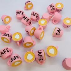 Шармик для слайма Кружка кофе розовая