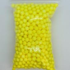Шарики пенопластовые желтые крупные