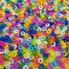 Посыпка фимо конфетти Колечки цветочки
