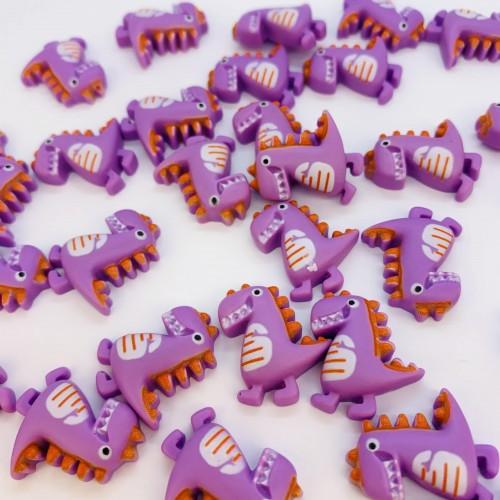 Шармик для слайма Динозавр сиреневый
