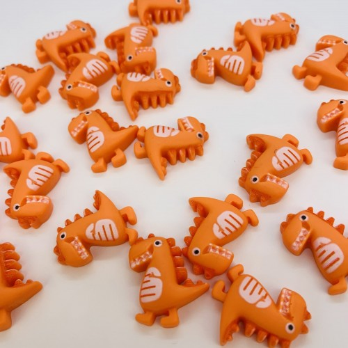 Шармик для слайма Динозавр оранжев