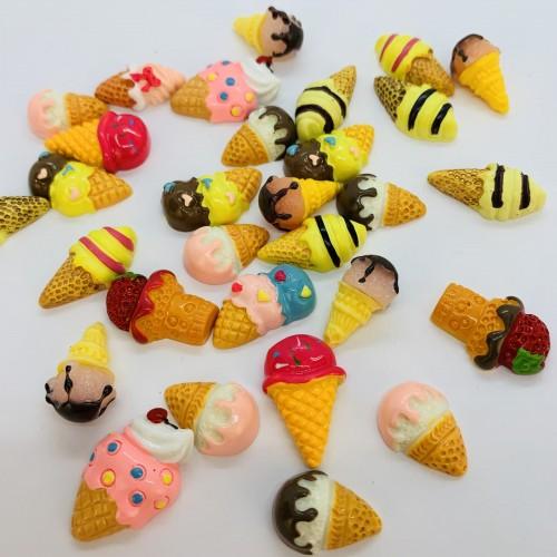 Шармик для слайма Мороженое рожок цветной