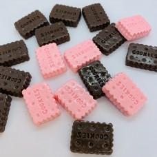 Шармик для слайма Печенье черно-розовое