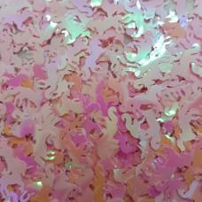 Посыпка Блестки единорожки розовые для украшения слайма