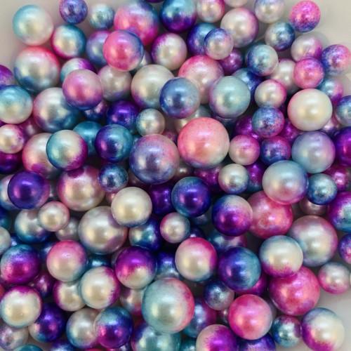 Жемчужины микс син-роз-голубой   (20 грамм)