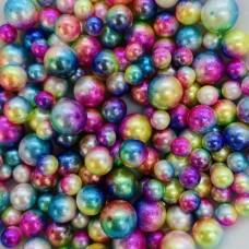 Жемчужины микс разноцветные для украшения слаймов  (20 грамм)