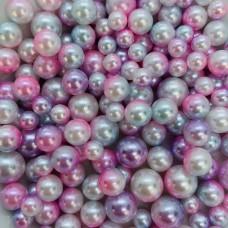 Жемчужины микс розово-голубой  для украшения слаймов (20 грамм)